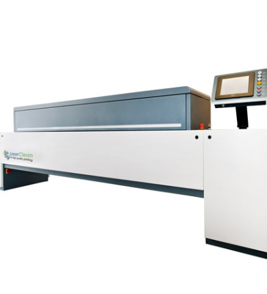 Wide Web laser cleaning system